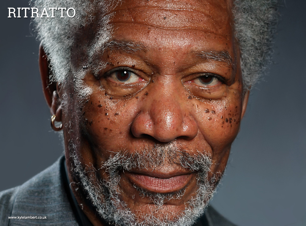 ritratto-morgan-freeman-photorealistic-ipad
